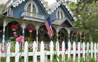Home with a picket fence