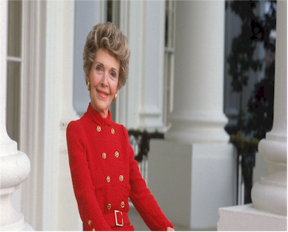 First Lady Nancy Reagan oversaw another remodel of the White House around 1981