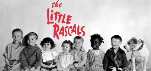 The Little Rascals L to R - Porky, Scotty, Darla, Marmalade, Spanky, Buckwheat, Alflfa & Pete